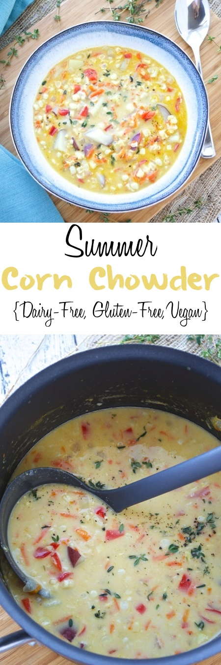 Summer Corn Chowder {Dairy Free, Gluten Free, Vegan} - Fashionable ...