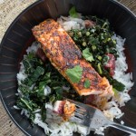 Blackened Salmon and Kale Bowls