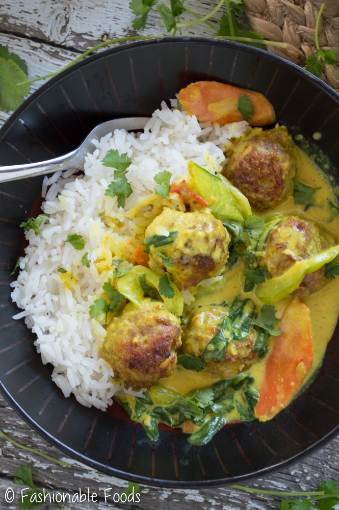 Thai Curry Meatball Bowl