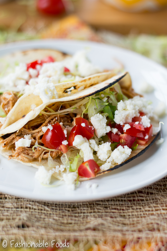 Easy Pulled Chicken Tacos