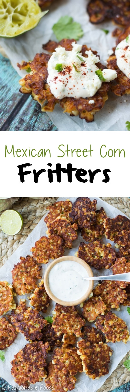 Mexican Street Corn Fritters Pin