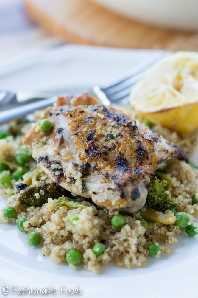 lemon-rosemary-chicken-thighs-and-quinoa