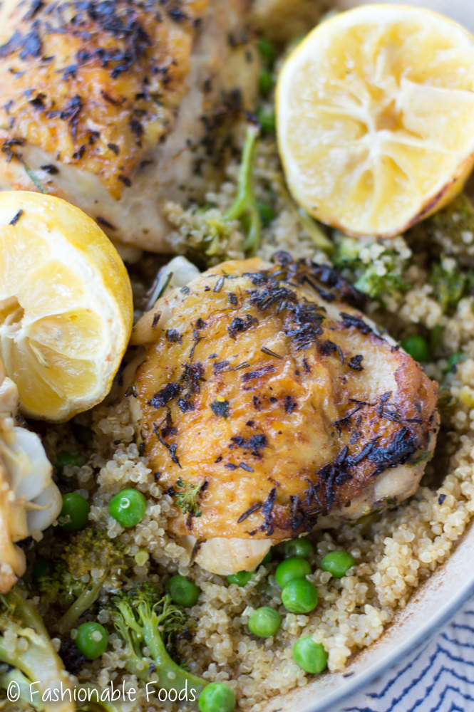 one-pan-lemon-rosemary-chicken-and-quinoa