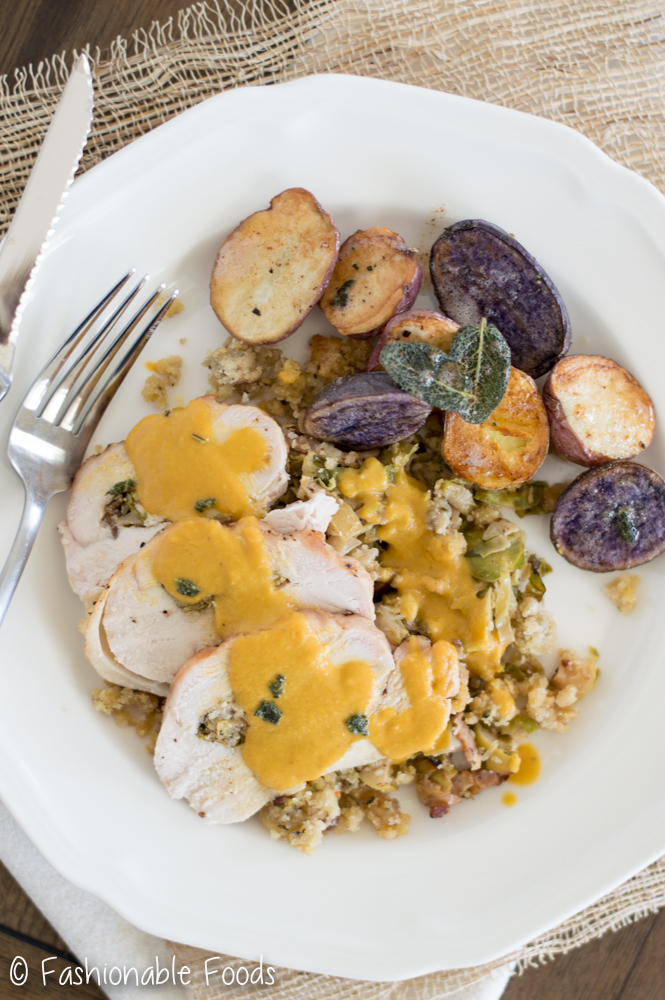 apple-bacon-brussels-sprout-stuffed-turkey-breast-with-vegetable-gravy