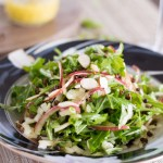 Arugula Salad with Crispy Lentils and Spiralized Apples