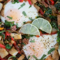 Chorizo and Vegetable Hash {Whole30}