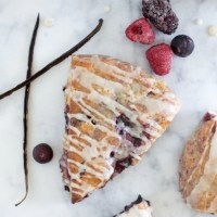 Dairy Free Berry Vanilla Scones