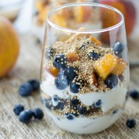 Puffed Quinoa, Fruit, and Yogurt Parfaits