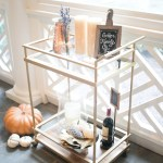 Decorate Your Bar Cart For Fall Fashionable Hostess