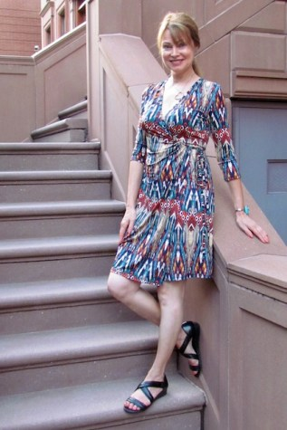 I wore my new wrap dress from Bebenoir
