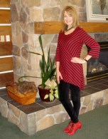 red and black tunic