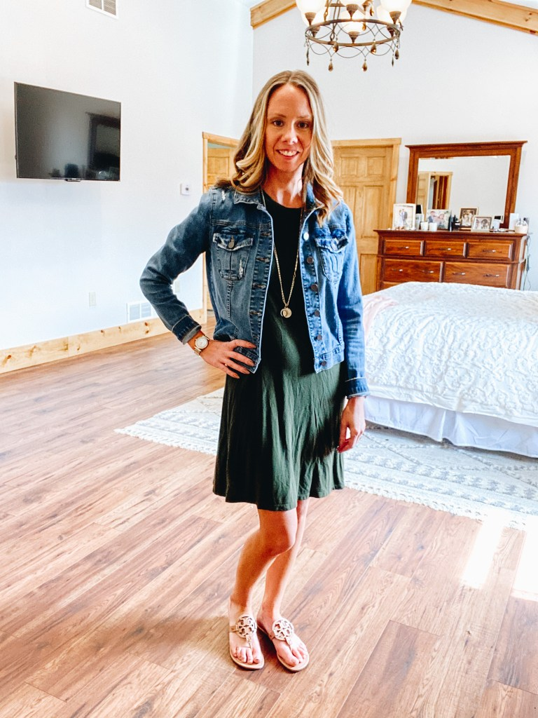 Tory Burch Miller Sandals styles by top Pittsburgh lifestyle blogger, Fashionably Late Mom