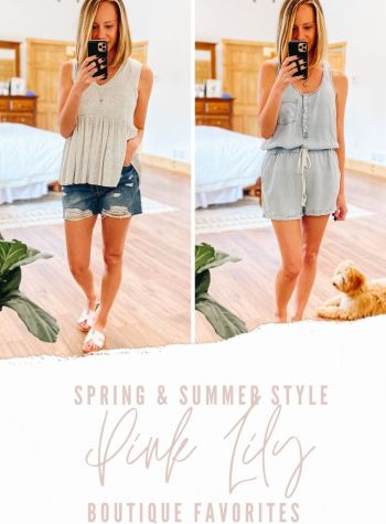 Pink Lily Boutique Favorites for Spring and Summer featured by top Pittsburgh fashion blogger, Fashionably Late Mom
