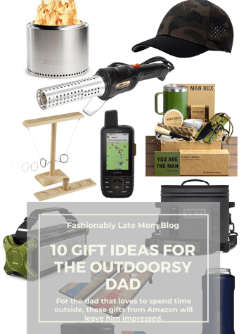 Top 10 Outdoors Gift Ideas for Men on Amazon for Father's Day featured by top Pittsburgh lifestyle blogger, Fashionably Late Mom