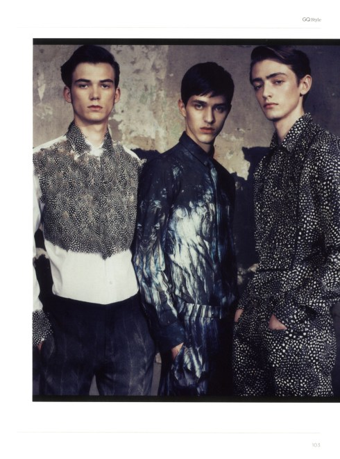 Charlie France, Baptiste Faure, Zhao Lei and Baptiste Radufe by Van Mossevelde+N for GQ Style Italia2