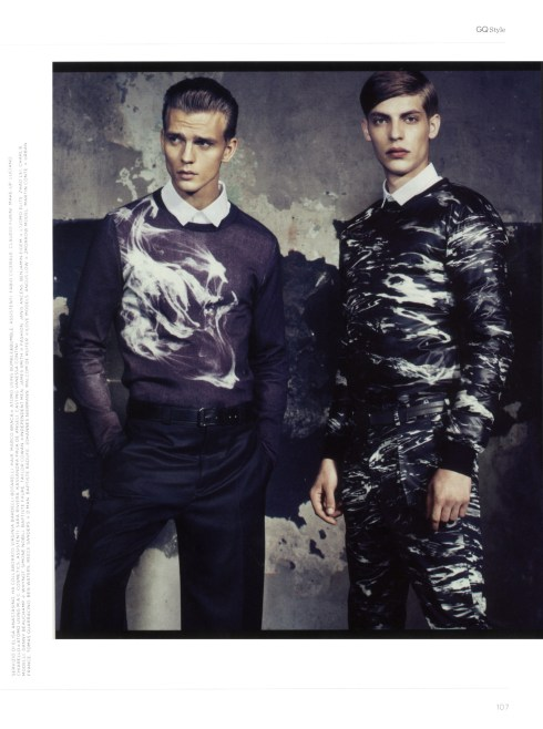 Charlie France, Baptiste Faure, Zhao Lei and Baptiste Radufe by Van Mossevelde+N for GQ Style Italia4