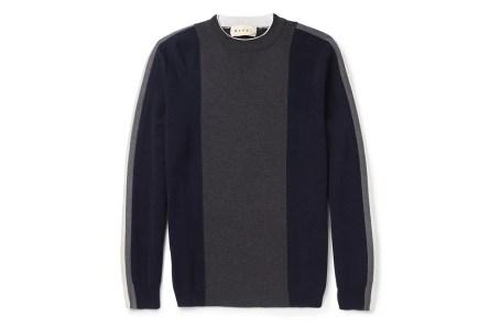 Marni Panelled Virgin Wool Sweater *MR PORTER Exclusive