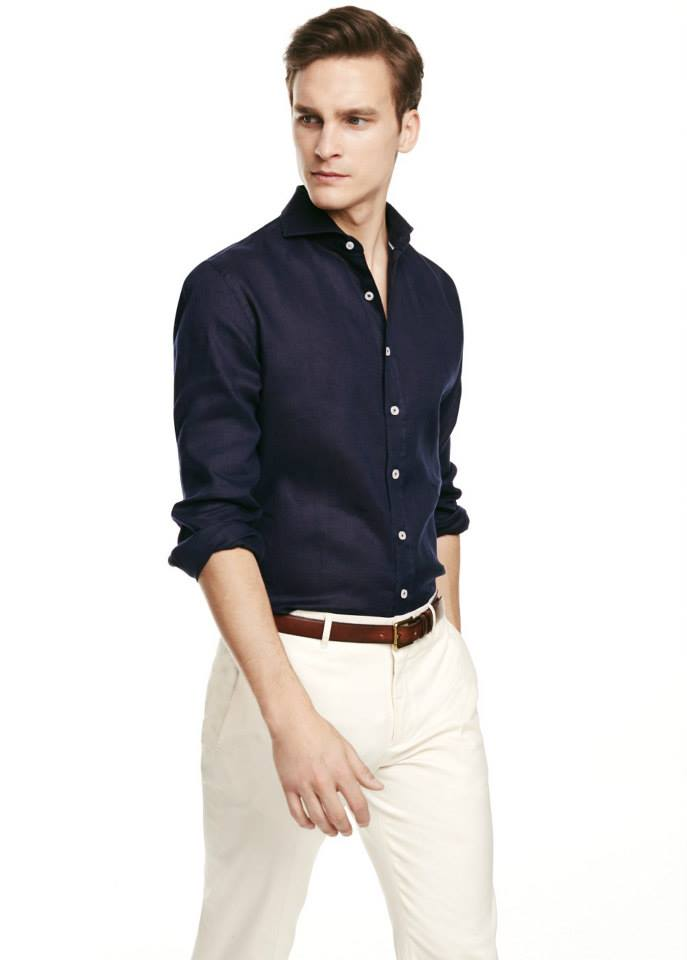Slim-fit linen shirt SHOP NOW >> http://mng.us/QdjKPn