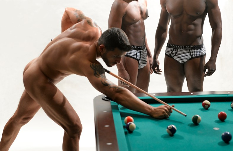 Lenny San In The New Campaign For Charles Owo Underwear