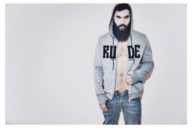Luca Marchesini: Sweatshirt Frankie Morello, denim trousers Haikure