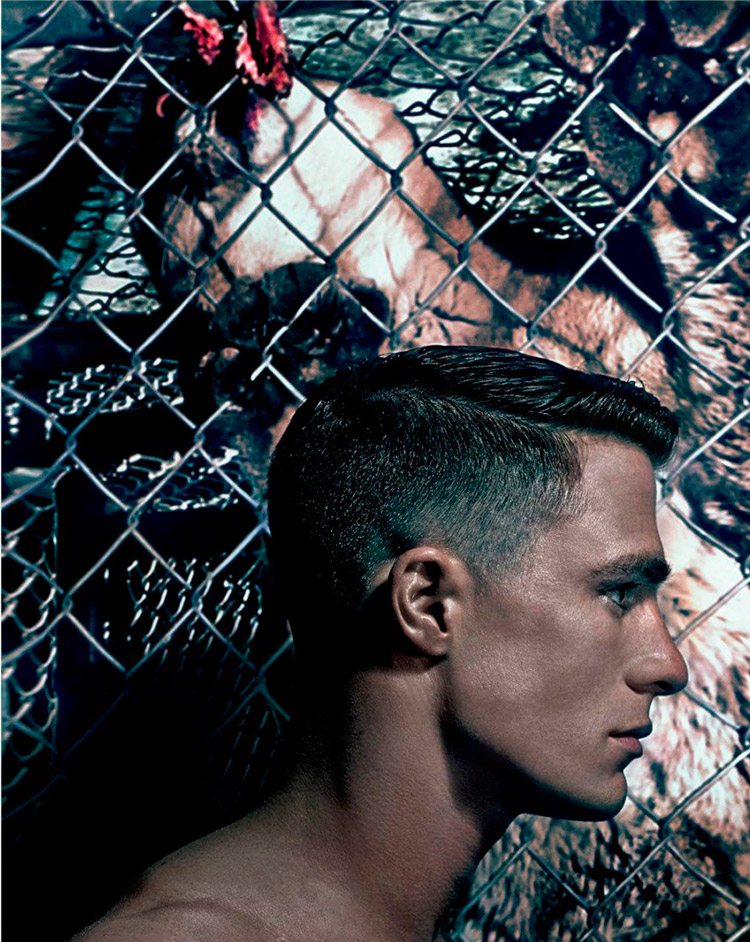 Actor Colton Haynes photographed by Steven Klein and styled by Nicola Formichetti, for the latest issue of VMan magazine.