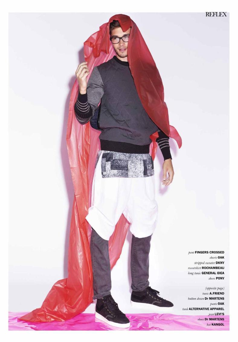 Reflex Homme September 2014 Francisco Lachowski Photographer: Kristiina Wilson. Stylist: Pamela Shepard. Groomer: Katie Mellinger. Assistant: Logan Jackson.