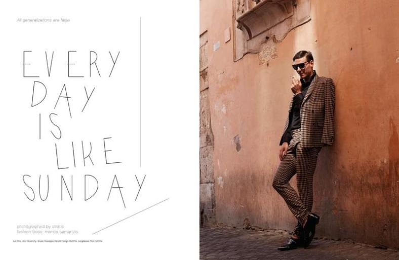 NakedButSafe Magazine September 2014 EVERY DAY IS LIKE SUNDAY Photographer:Stratis Stylist:Manos Samartzis