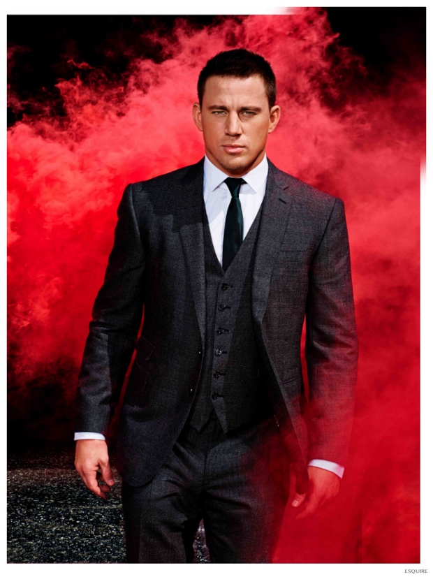 Interview to Channing Tatum for this month's Esquire cover story, and he's quite the devoted entertainer. Whether he's getting crushed by an Olympic wrestler in Foxcatcheror apologizing to fellow Magic Mike dancers for his flailing nethers, Channing does whatever the role takes. Just don't try to make him sit still.