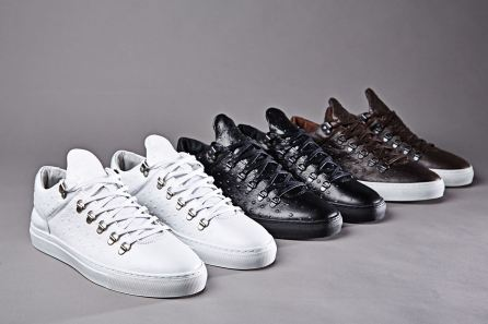 The Filling Pieces x END. exclusive collaboration features three ostrich skin effect iterations of the original silhouette Mountain Cut Low Sneakers, which are handmade in Portugal. Online now. http://www.endclothing.co.uk/brands/filling-pieces