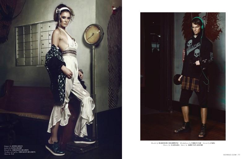 Photographer: Sailey Williams Wardrobe: The Stylemonsters Models: Matthew Noska @ Wilhelmina . Emma Antonuk @ Apm, Matthew Vande @ Major Location: David Barton - Astor Place