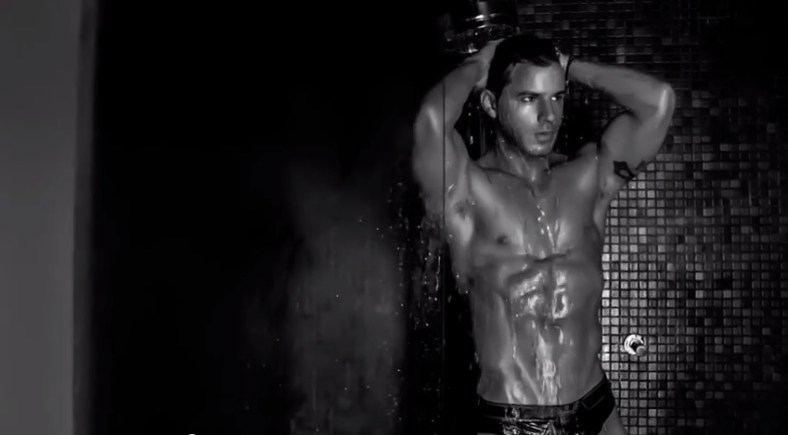 "Greek hunk male model Iraklis Kozas is posing sensual in ""Urban Obsession"" a project shot film Directed and Edited by Danny Dee Concept and Art Direction by Yannis Kazanidis. Music by  NORone Track - The Dream Hair Styling by Romeo Quinonez."