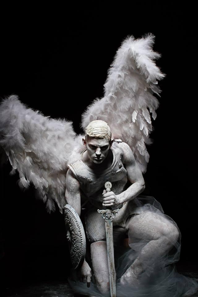 Fallen Angel by Livia Alcalde stars Top Model Sebastian Sauve for L'Officiel Hommes Greece15