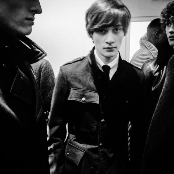 TOM FORD AW15 MEN'S PRESENTATION: BACKSTAGE