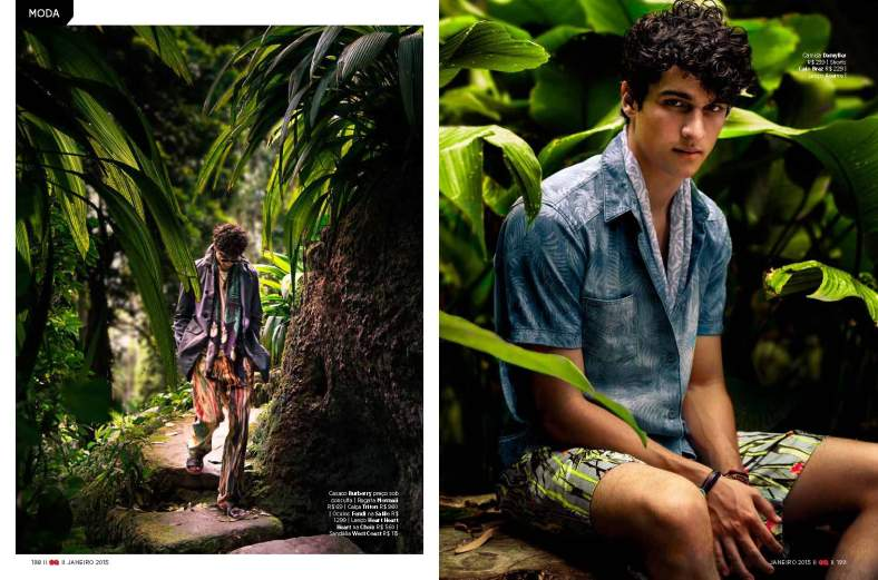 CAMUFLAGEM TROPICAL SHOT BY KARL SIMONE FOR GQ BRAZIL