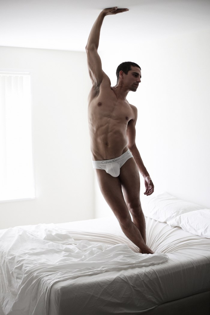 A showstopping underwear session by photographer Luke Austin featuring the striking Daniel Duboy at 'Ford Models L.A.'