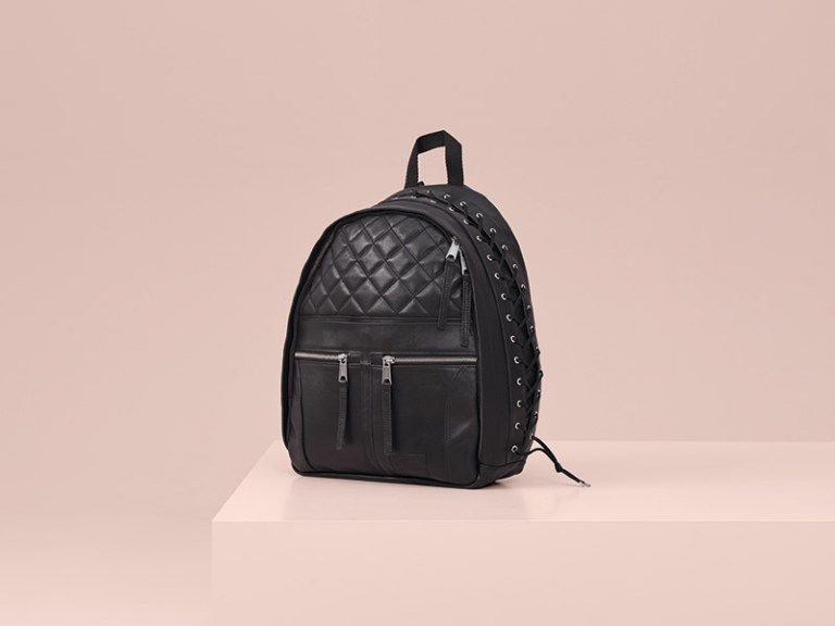 Leather Backpack (Limited to 250 pieces) – The leather biker/pilot jacket is reinterpreted as a backpack with lacing.