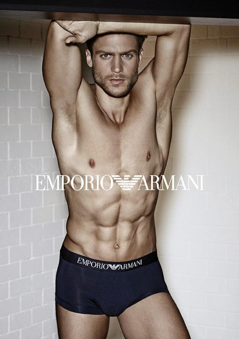Emporio Armani Underwear previews its Spring/Summer 2015 campaign starring Jason Morgan shot by Giampaolo Sgura. The American model was OBSESSION No.5 shot by Daniel Jaems and also fronts the new Giorgio Armani Acqua di Gio fragrance campaign.
