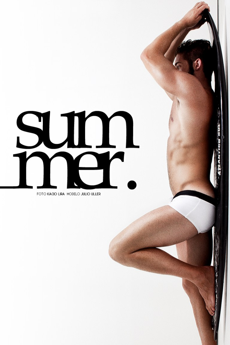"Julio Uller, the DF MODEL agency, the ""Summer"" test, photographed by Kacio Lira in Joinville, Santa Catarina."