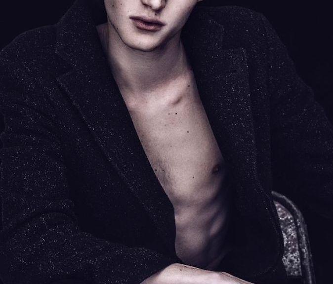 "6'2"" new model (in development) represented by Stockholms gruppen green eyes beauty Alfons Miari."