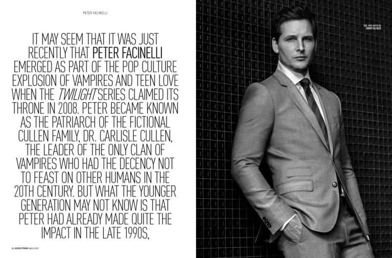 The Next Challenge starring by actor Peter Facinelli for August Man Malaysia photographed by talented Karl Simone, always looking for new trails to take on Peter Facinelli never gets comfortable with just one character or genre. Styled by Jenesee Utley and grooming by Elizabeth Morache.