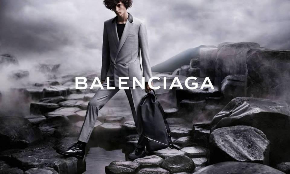 Top Model Piero Mendez fronts the new 2015 campaign for Balenciaga.