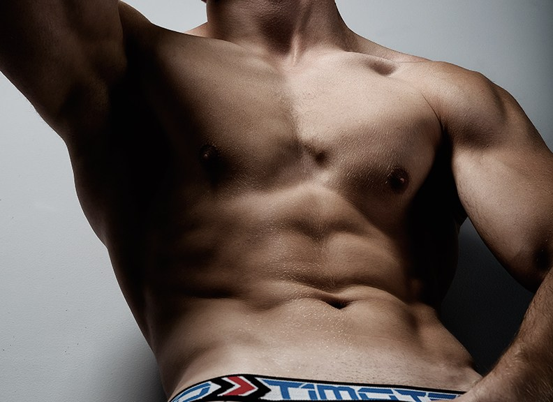 #MondayMotivation with fitness model Andrej T. shot by Armando Adajar. Andrej is wearing Timoteo underwear.