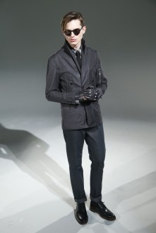 """For Hickey, David Hart has created a collection of luxurious casualwear pieces that encompass sweaters, knitwear, sport shirts, outerwear, soft coats, casual trousers and denim. Fits are modern but not skinny. """"The Hickey guy is more sartorial,"""" Hart said."""