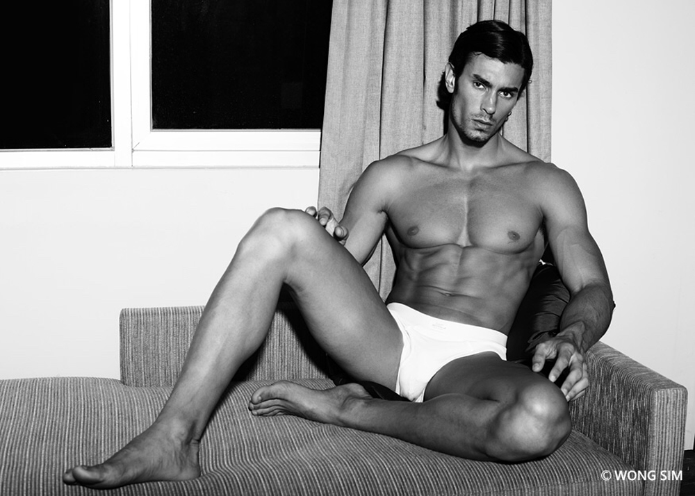The striking Igor Augusto posing for a privé portrait session by photographer Wong Sim captured in elegant black and white an color. Igor is represented by Avenue Model Agency Singapore, Soul Artist Management in New York, and M4 Models in Germany.