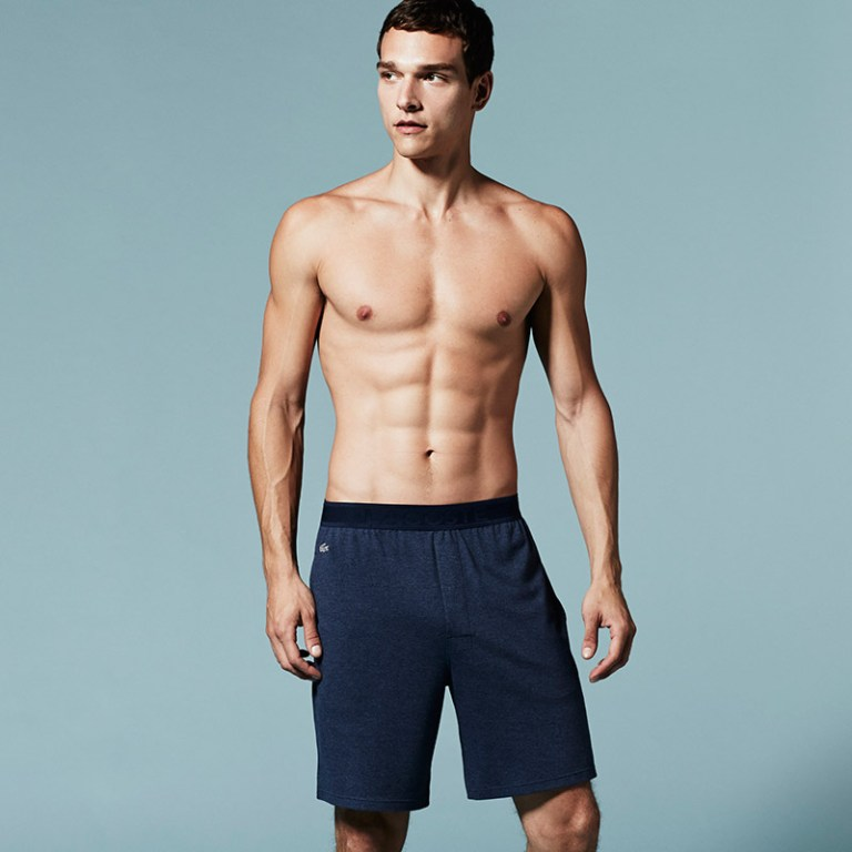 Lacoste unveiled its new Underwear & Sleepwear lookbook, featuring Brazilian model Alexandre Cunha.