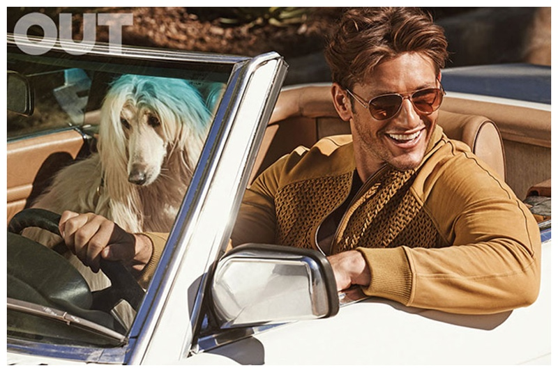 Appearing in the March 2015 edition of Out magazine, American model Parker Gregory is in fine form as he connects with photographer Mariano Vivanco for a sun-kissed story in the golden state of dreams. Outfitted by stylist Grant Woolhead, Parker tackles spring neutrals as he embraces a role of riches and leisure.