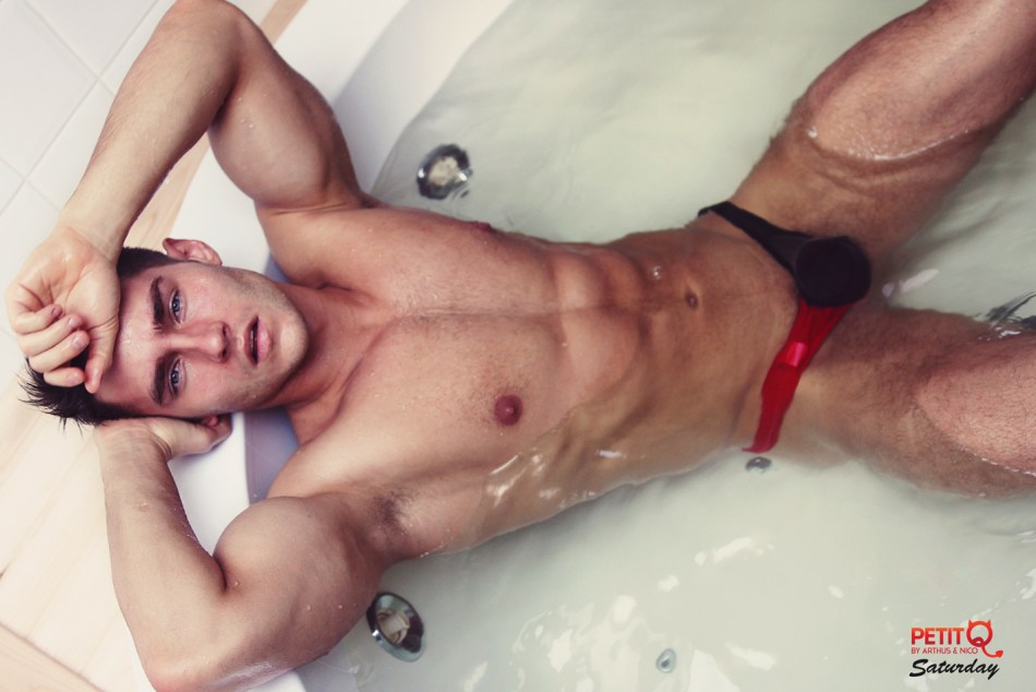 Anatoly Goncharov is a russian hunk taking over internet with his sexy shots. These new photos were taken by photographer Telma Saturday in a fancy appartment in Moscow. They show Anatoly's gorgeous body and face in some sexy poses wearing the very provocative PetitQ collection.