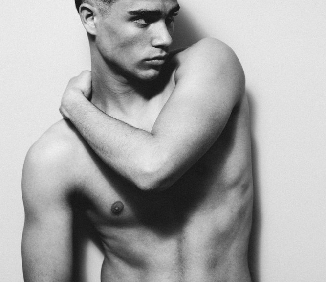 In an Exclusive for Fashionably Male talented duo Photographer Victor Guillén and Art Director and also stylist J. J Ortiz shares a fascinating B/W session exploring and capturing the beautiful toned body by model Antonio Esperilla at Nova. Grooming by Kool Hair.