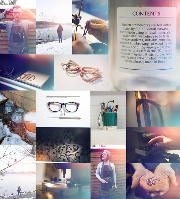 """Create your own eyewear.  Best friends and partners, design duo, Lucy Ross and Jamie Bartlett have tailored their British made spectacle designs towards an exciting and more personal purchase process. Their system lets you choose from seven frame designs from six different materials such as wood, metal or different colours of acetate. Afterward you can choose from three colours of metal temples with black or tan coloured leather earpieces.  """"Your choice of component combination can be made to best match your skin tone, your attire, your job, your watch, even your purse or wallet."""" Jamie Bartlett, 24, Co Founder.  """"Think of it as buying a pick and mix at the sweet shop. We all have our own tastes. We want this to be functional as well as fun. To us, that's good design"""".  Lucy Ross, 24, Co founder.  Made in Britain."""