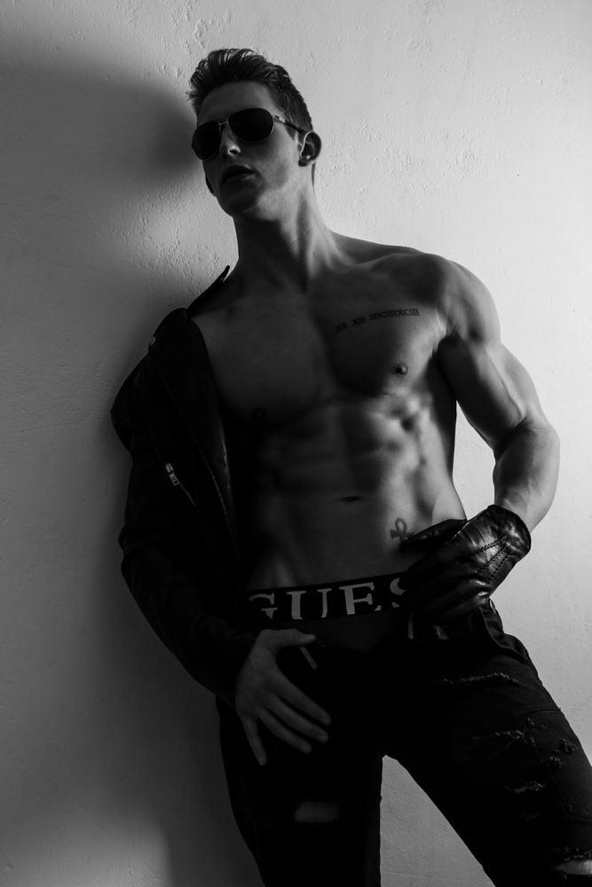 Releasing worldwide Serious Black by Richard Broekhuijzen, starring model Ewout Jellema.
